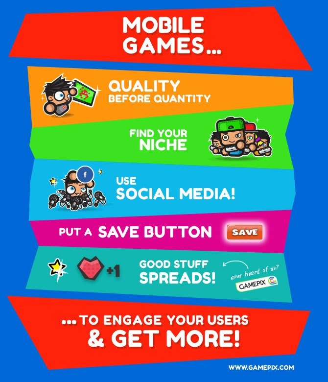 Mobile games to engage your users!