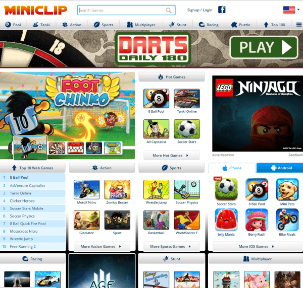 GamePix featured on Miniclip