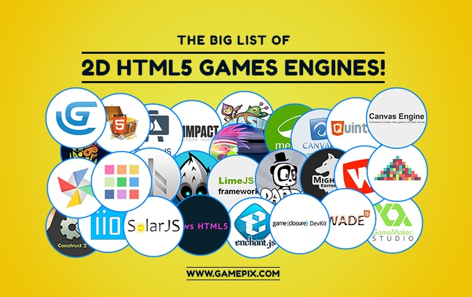 The big list of 2D HTML5 games engines