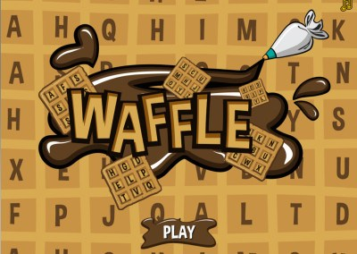 Waffle WOrds HTML5 game on GamePix screen 1