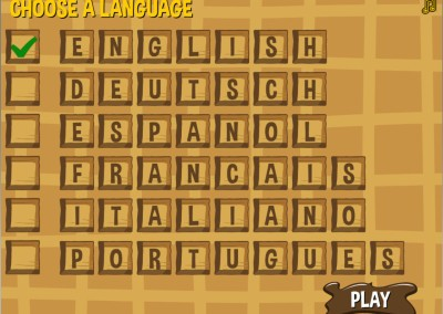Waffle WOrds HTML5 game on GamePix screen 2