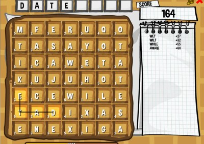 Waffle WOrds HTML5 game on GamePix screen 3