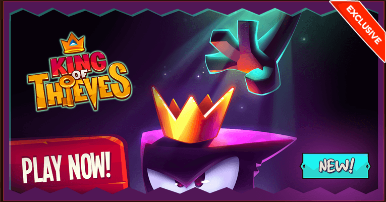 King of Thieves HTML5 is live! Exclusively distributed by GamePix